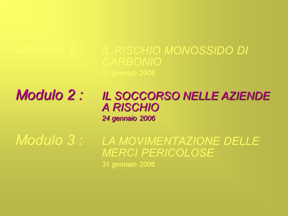 Modulo 1 : IL RISCHIO MONOSSIDO DI CARBONIO