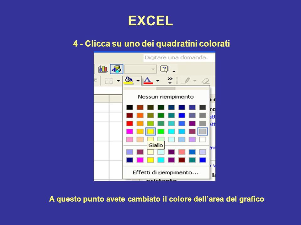 EXCEL 4 - Clicca su uno dei quadratini colorati