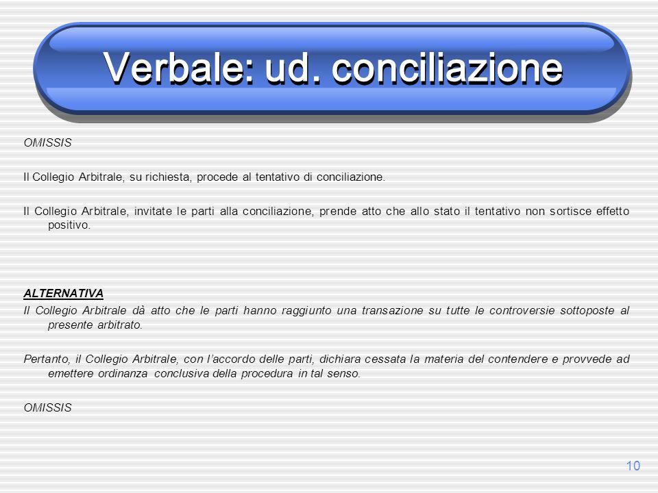 Verbale: ud. conciliazione
