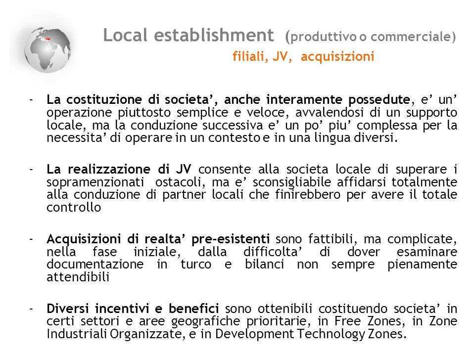 Local establishment (produttivo o commerciale)