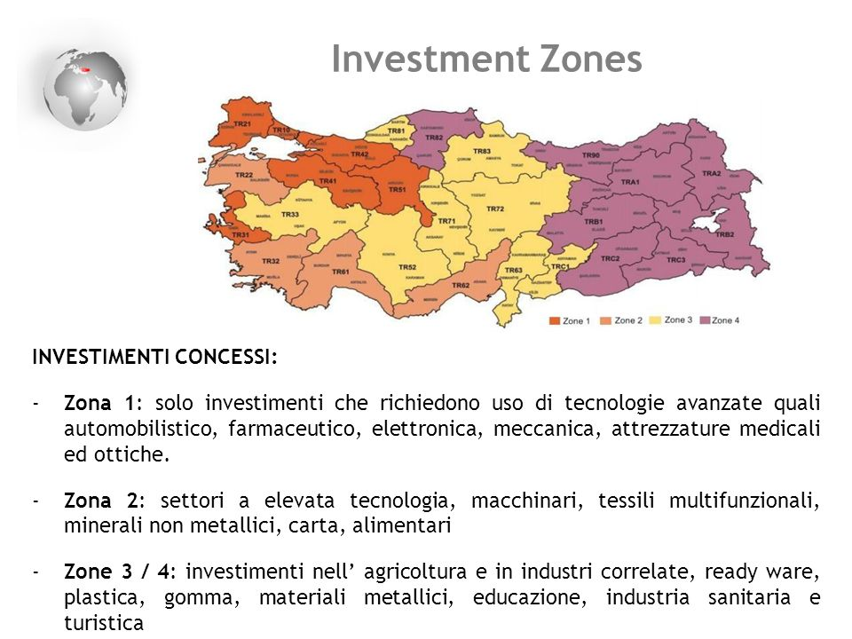 Investment Zones INVESTIMENTI CONCESSI: