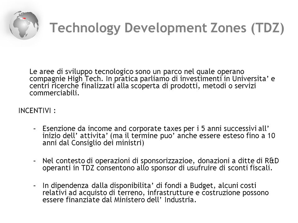 Technology Development Zones (TDZ)