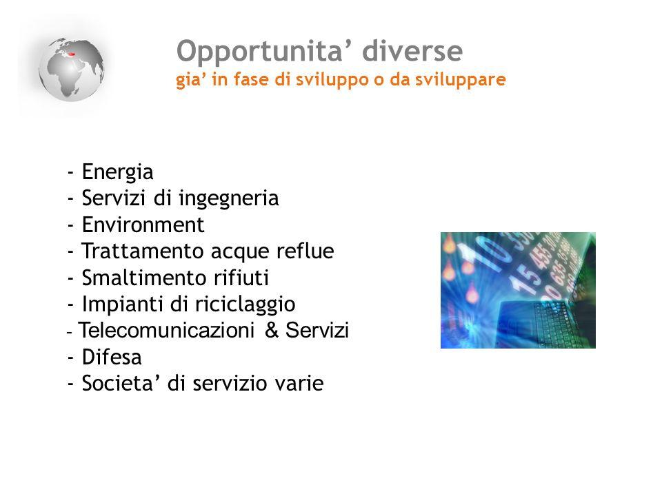 Opportunita' diverse Energia Servizi di ingegneria Environment