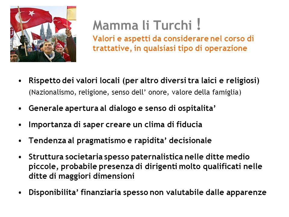Mamma li Turchi ! Valori e aspetti da considerare nel corso di trattative, in qualsiasi tipo di operazione