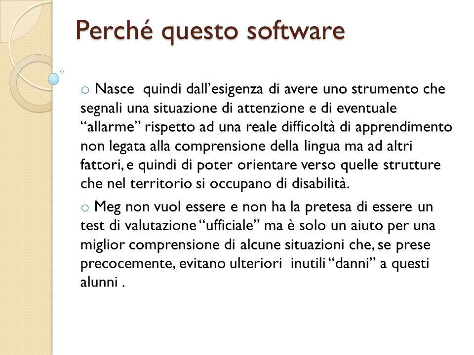 Perché questo software