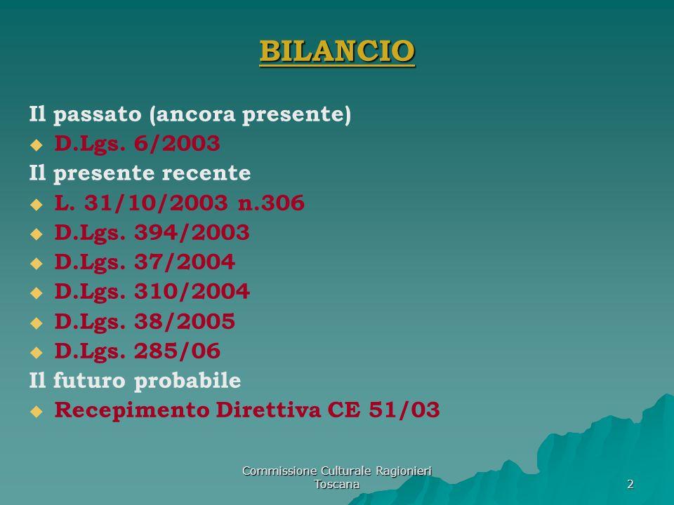 Commissione Culturale Ragionieri della Toscana