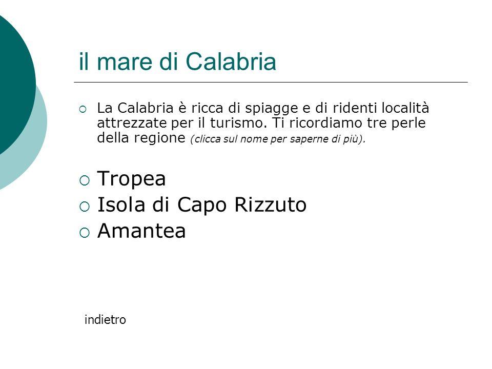 il mare di Calabria Tropea Isola di Capo Rizzuto Amantea