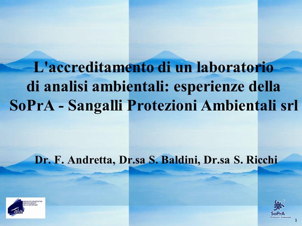 Dr. F. Andretta, Dr.sa S. Baldini, Dr.sa S. Ricchi