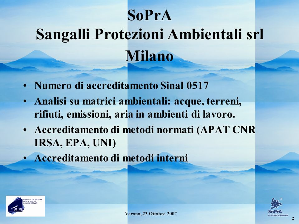 SoPrA Sangalli Protezioni Ambientali srl Milano