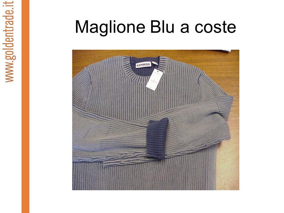 Maglione Blu a coste