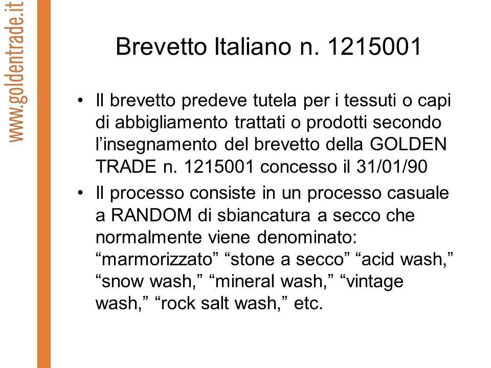 Brevetto Italiano n. 1215001