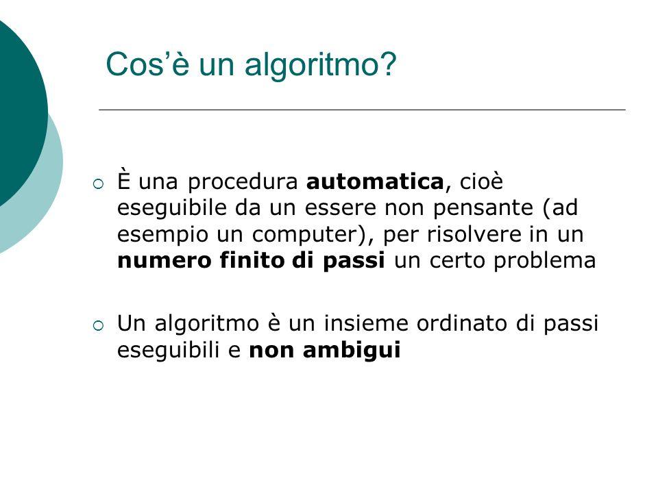 Cos'è un algoritmo