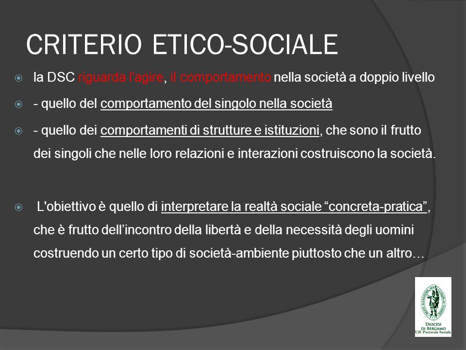 CRITERIO ETICO-SOCIALE