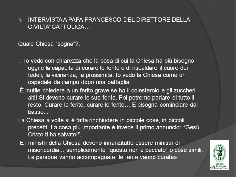 INTERVISTA A PAPA FRANCESCO DEL DIRETTORE DELLA CIVILTA' CATTOLICA…