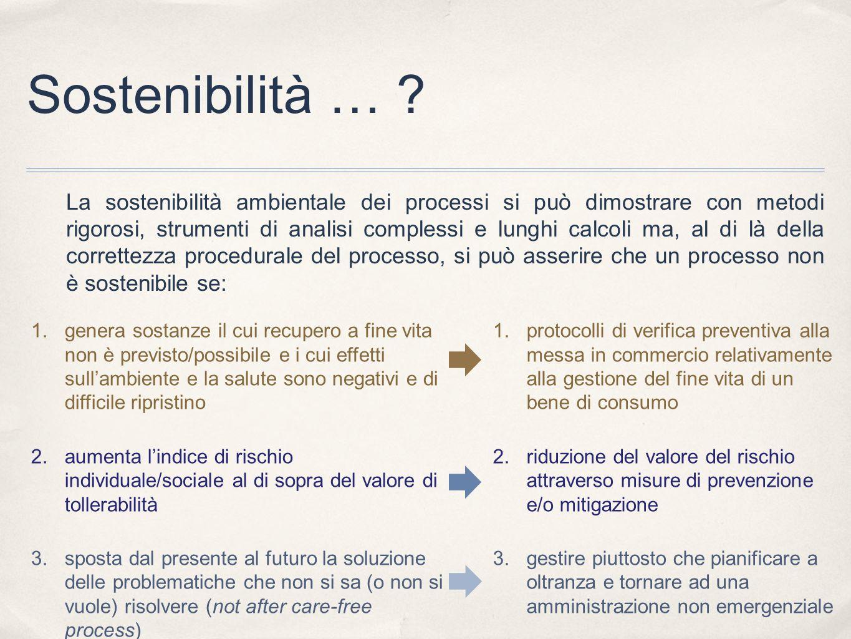 Sostenibilità …