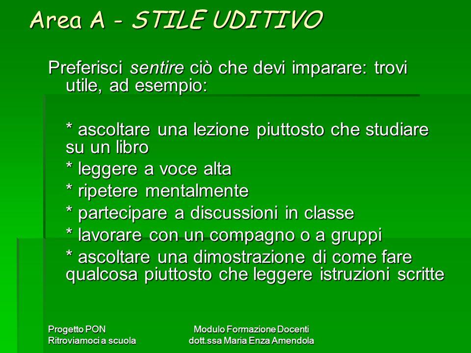 Modulo Formazione Docenti dott.ssa Maria Enza Amendola