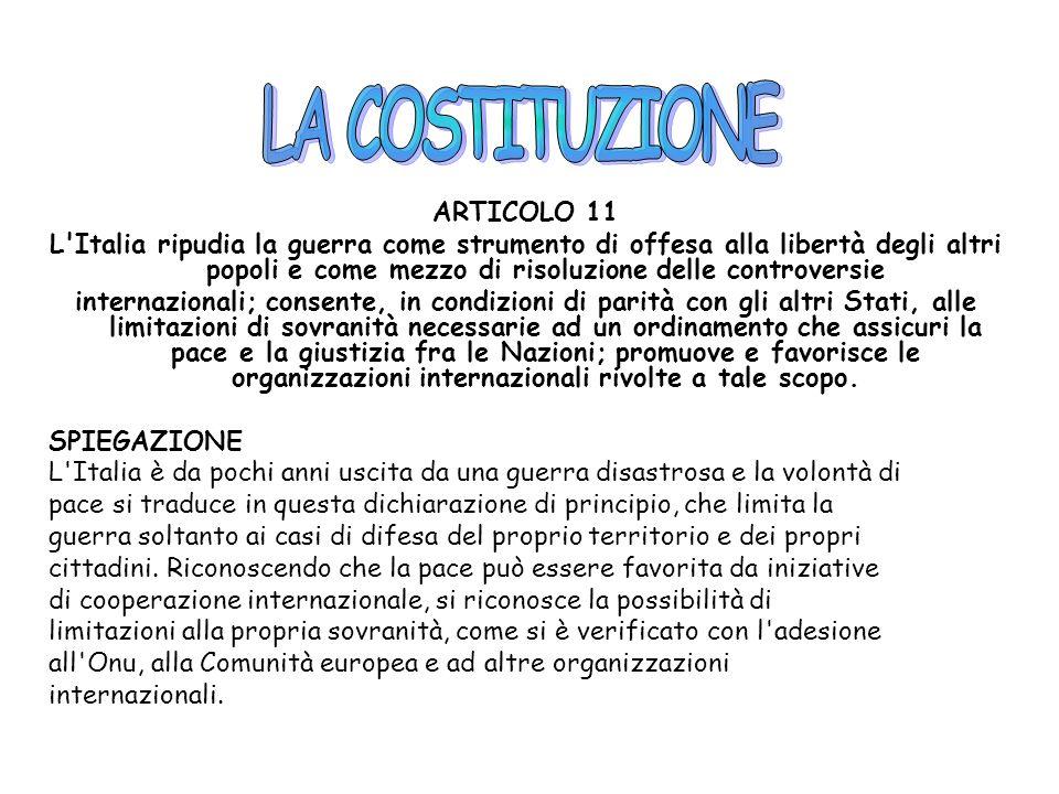 LA COSTITUZIONE ARTICOLO 11