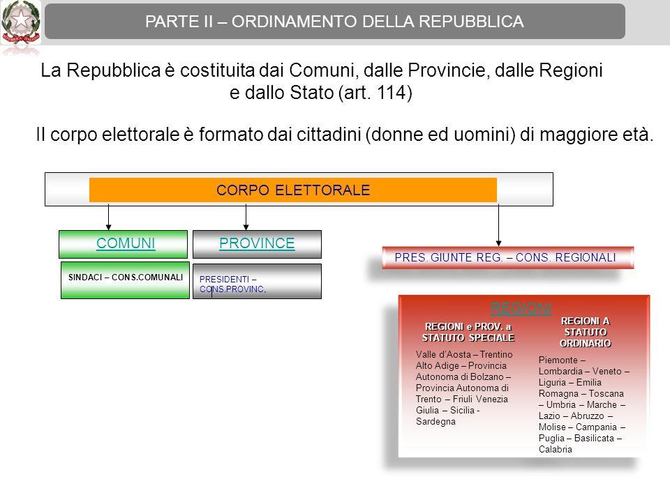 REGIONI e PROV. a STATUTO SPECIALE REGIONI A STATUTO ORDINARIO