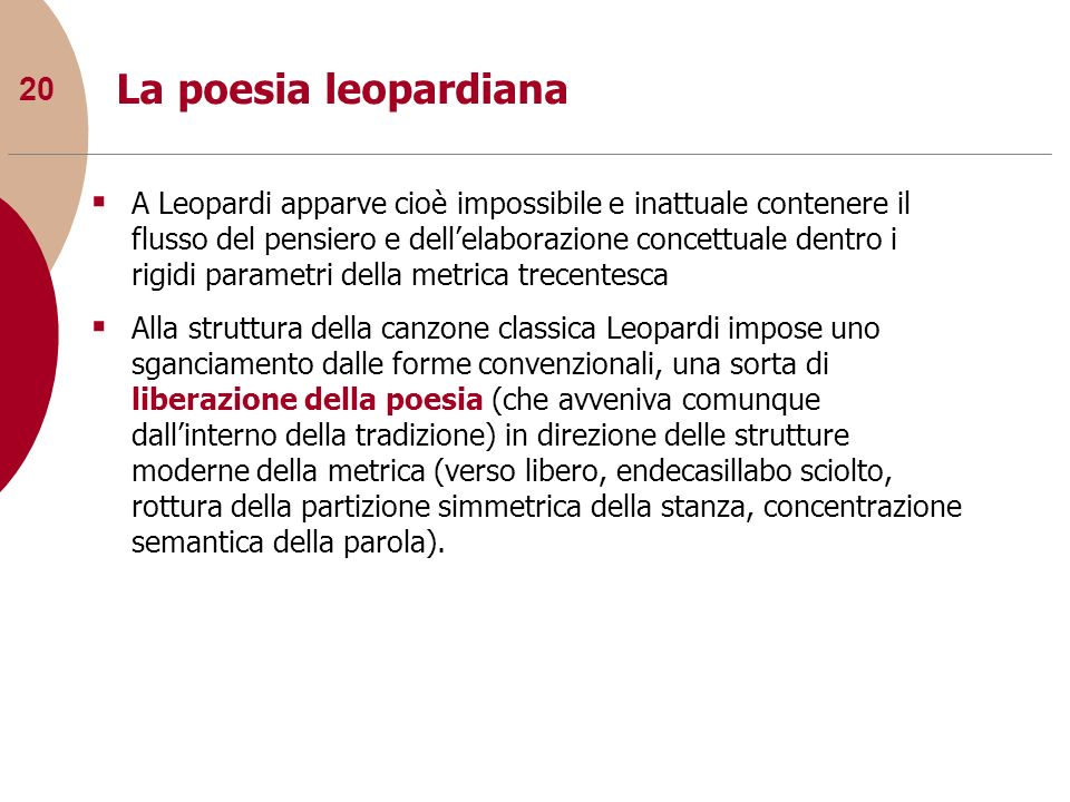 La poesia leopardiana