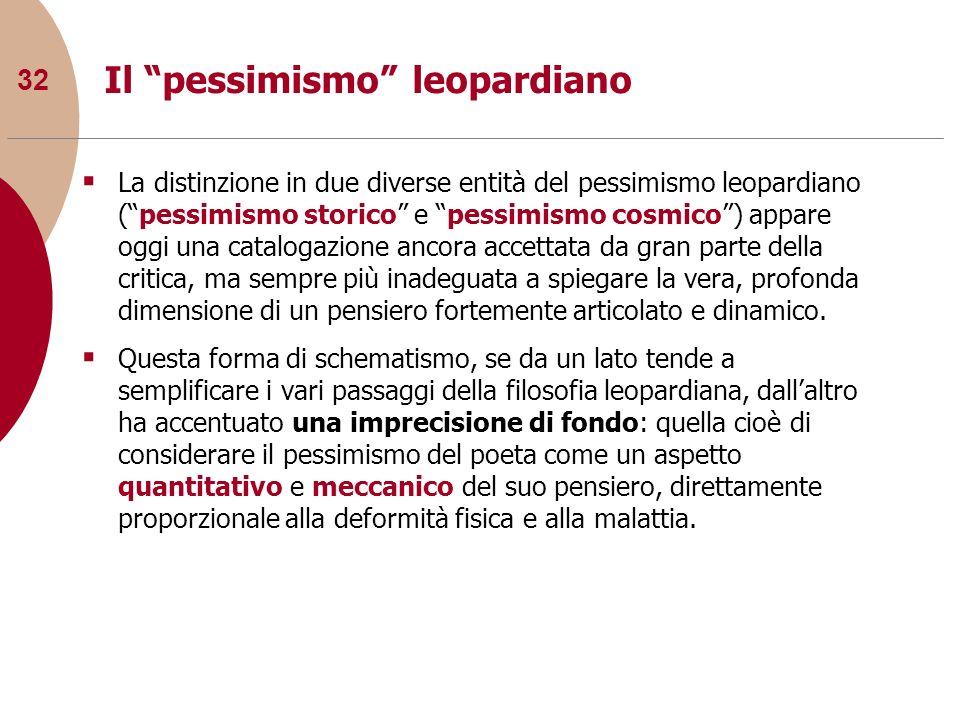 Il pessimismo leopardiano