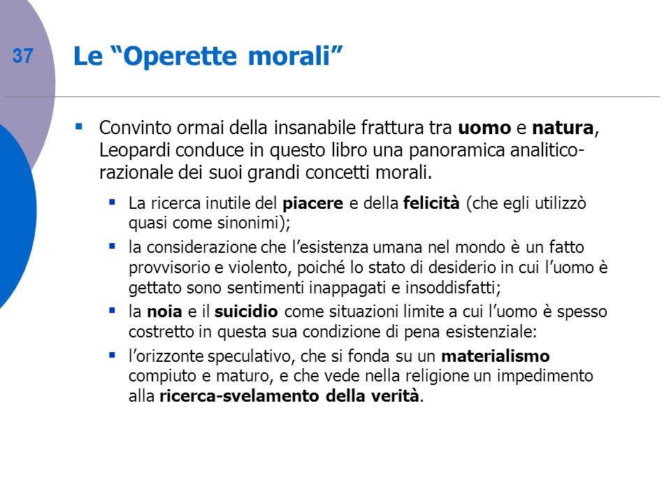 Le Operette morali