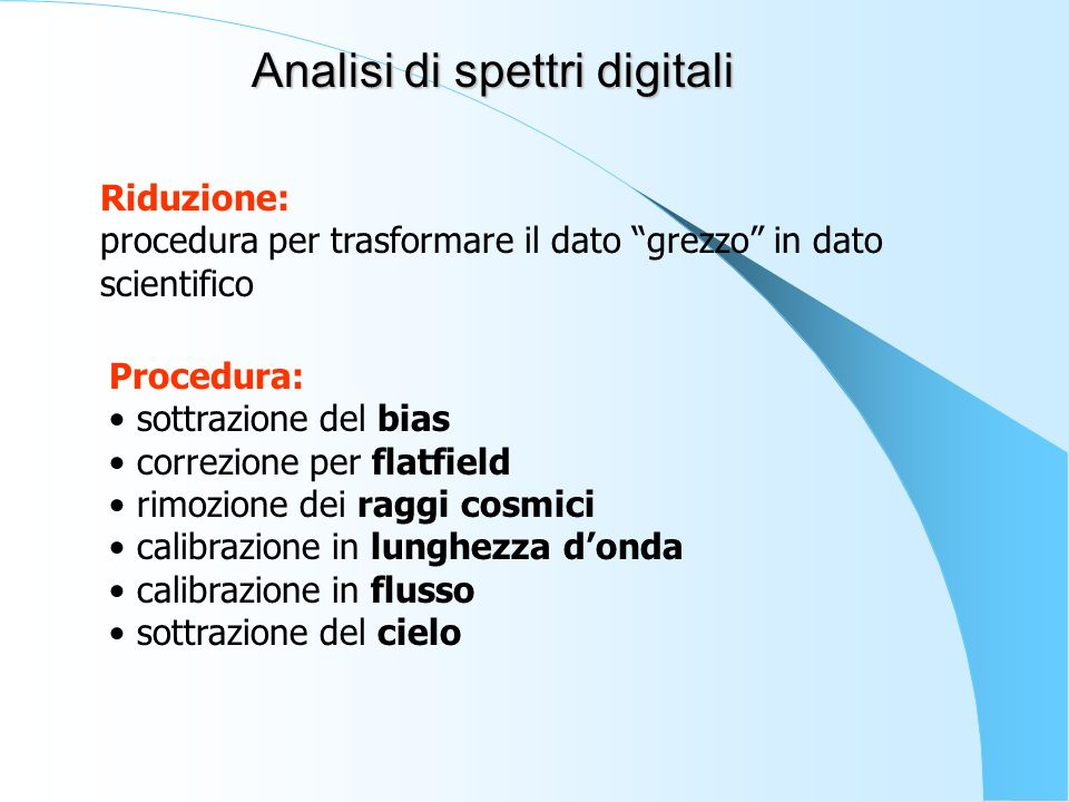 Analisi di spettri digitali