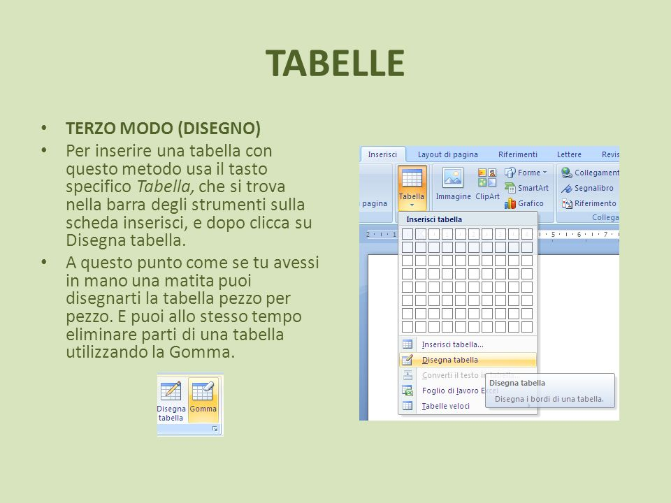TABELLE TERZO MODO (DISEGNO)