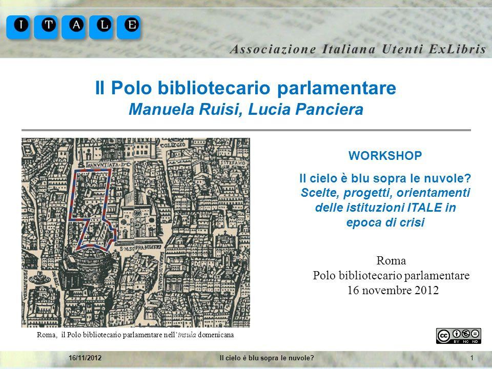 Il Polo bibliotecario parlamentare Manuela Ruisi, Lucia Panciera