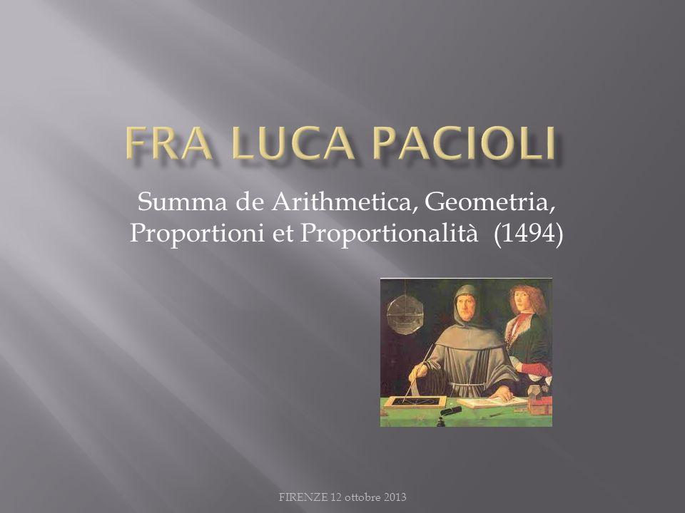 Summa de Arithmetica, Geometria, Proportioni et Proportionalità (1494)