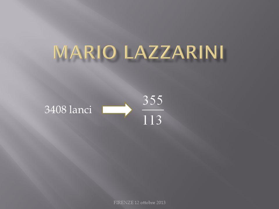MARIO LAZZARINI 3408 lanci FIRENZE 12 ottobre 2013