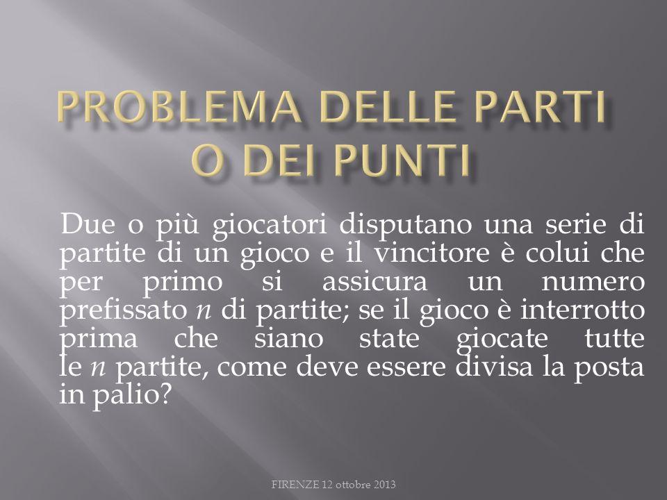 Problema delle parti o dei punti