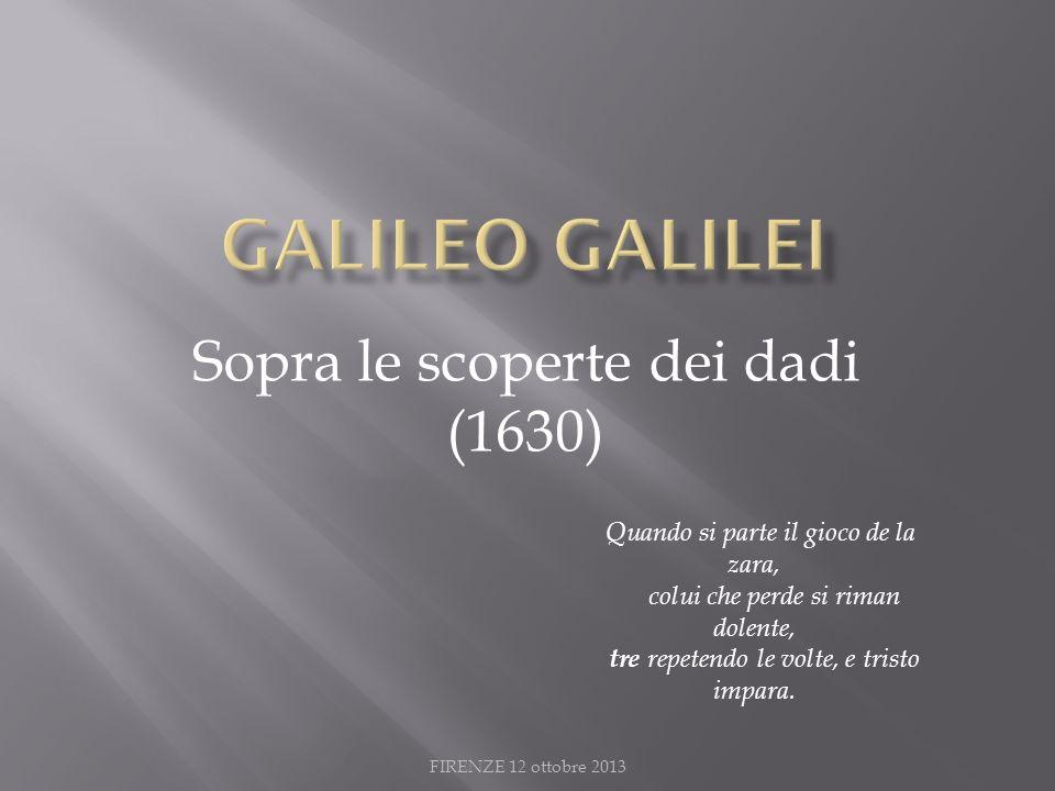 Sopra le scoperte dei dadi (1630)