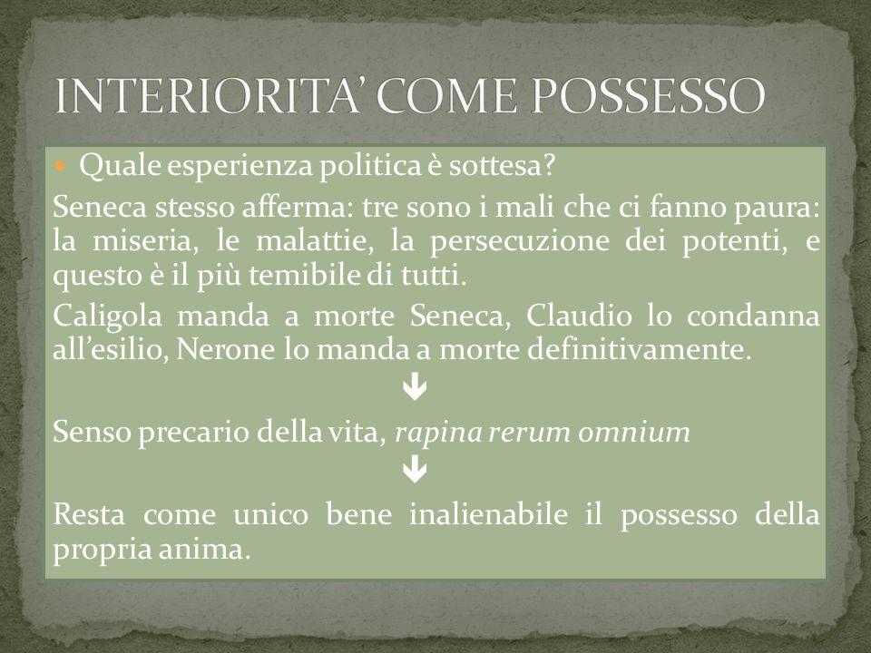 INTERIORITA' COME POSSESSO