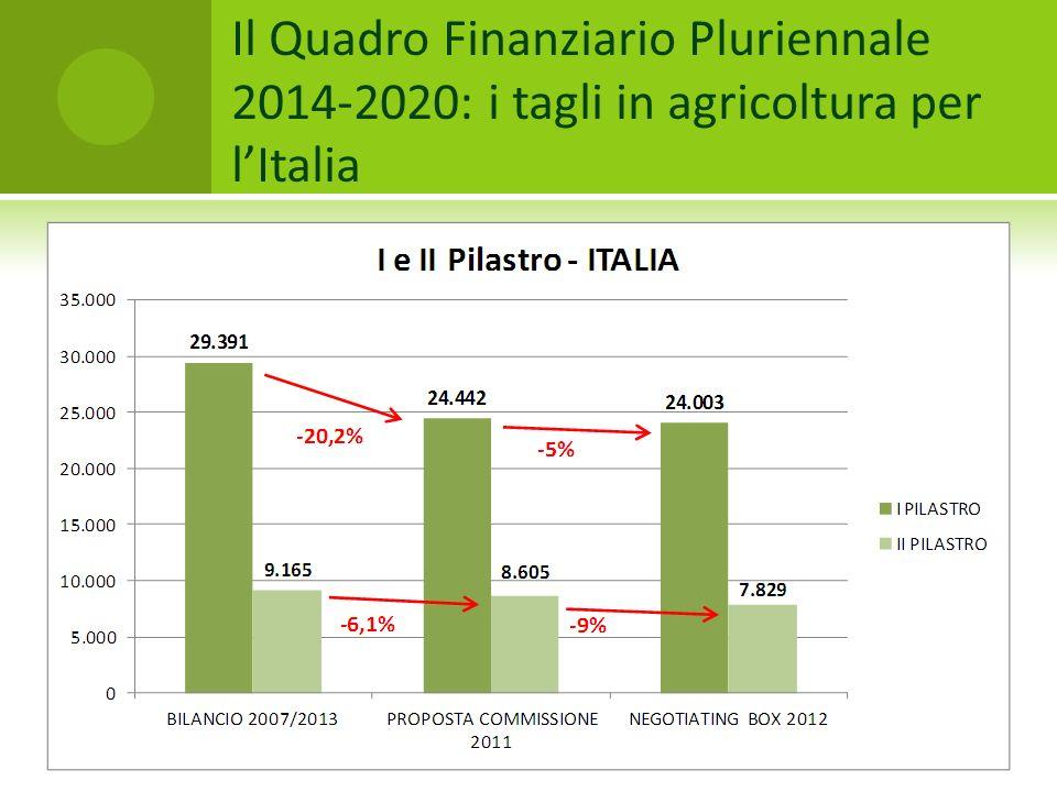 Il Quadro Finanziario Pluriennale 2014-2020: i tagli in agricoltura per l'Italia