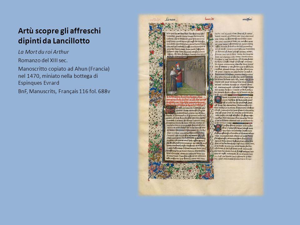 Artù scopre gli affreschi dipinti da Lancillotto