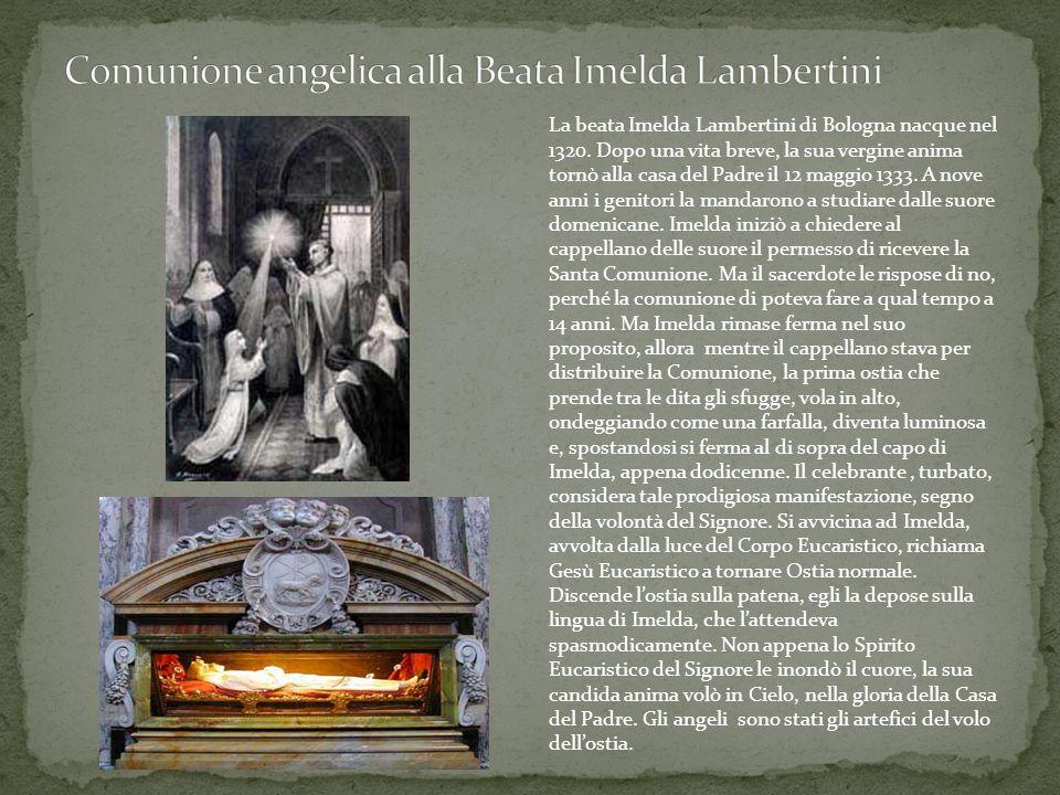 Comunione angelica alla Beata Imelda Lambertini