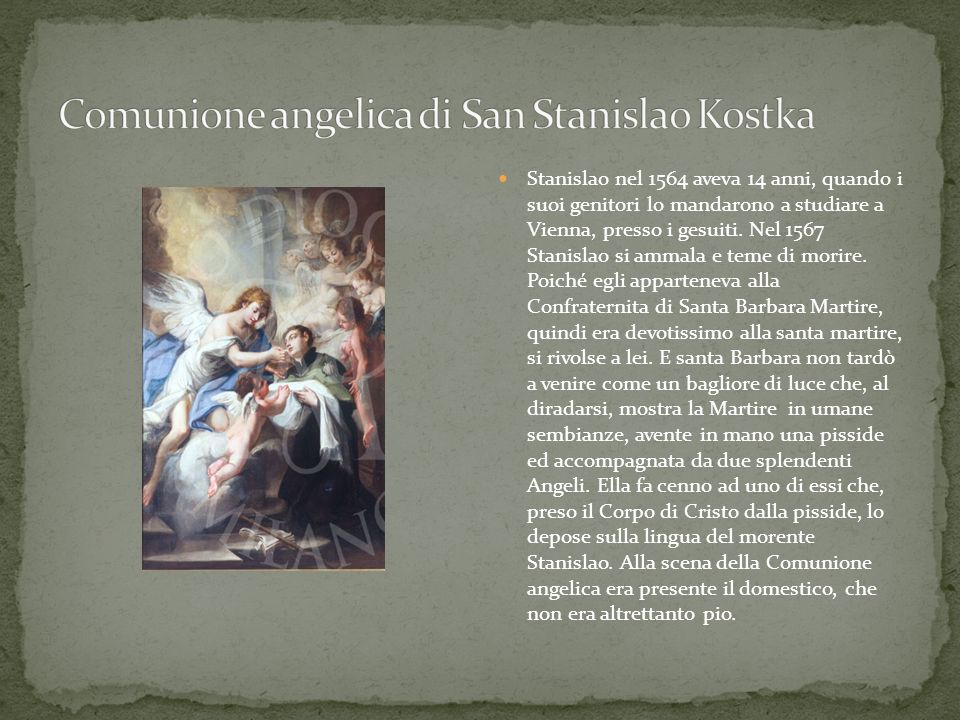 Comunione angelica di San Stanislao Kostka