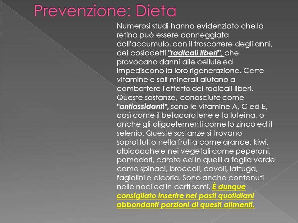 Prevenzione: Dieta