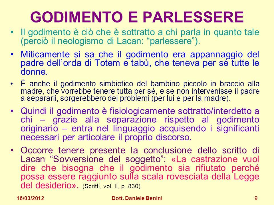 GODIMENTO E PARLESSERE