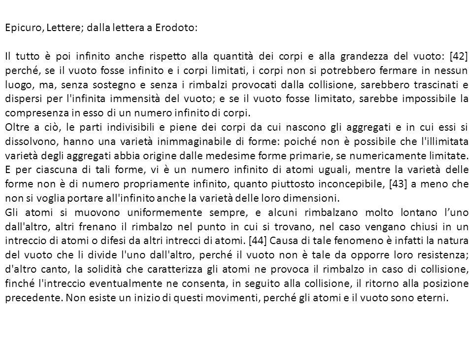 Epicuro, Lettere; dalla lettera a Erodoto: