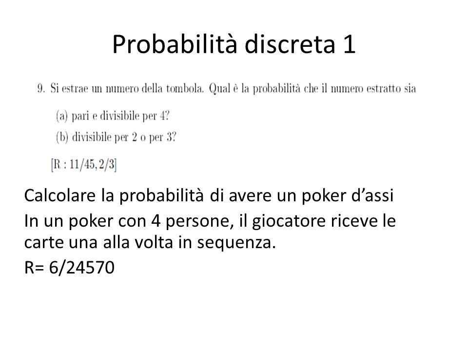 Probabilità discreta 1