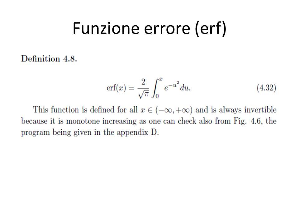 Funzione errore (erf)