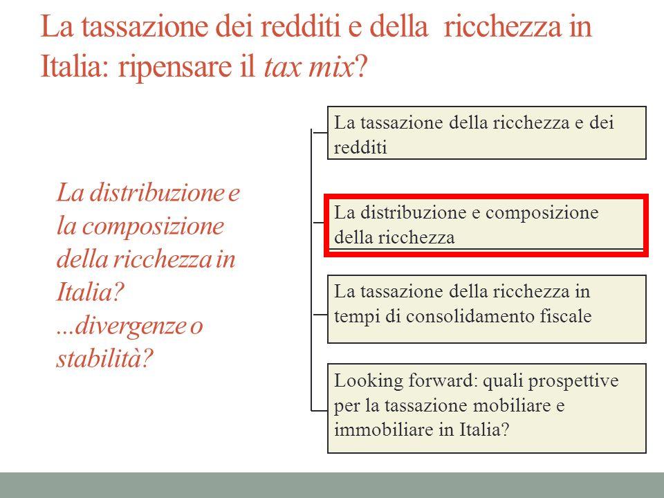 La tassazione dei redditi e della ricchezza in Italia: ripensare il tax mix