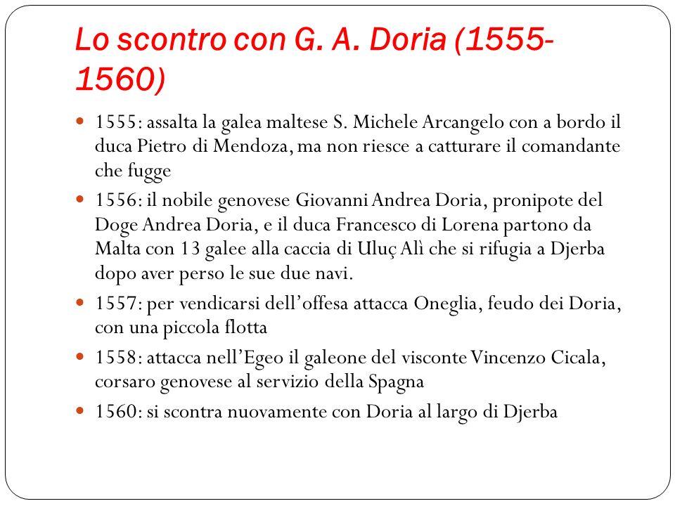 Lo scontro con G. A. Doria (1555-1560)