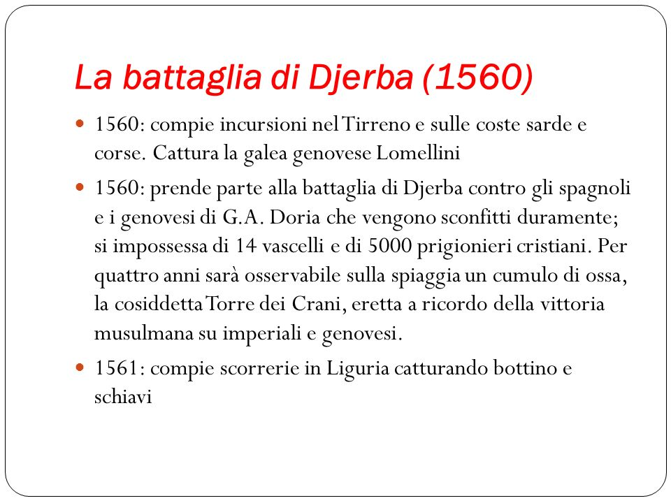 La battaglia di Djerba (1560)