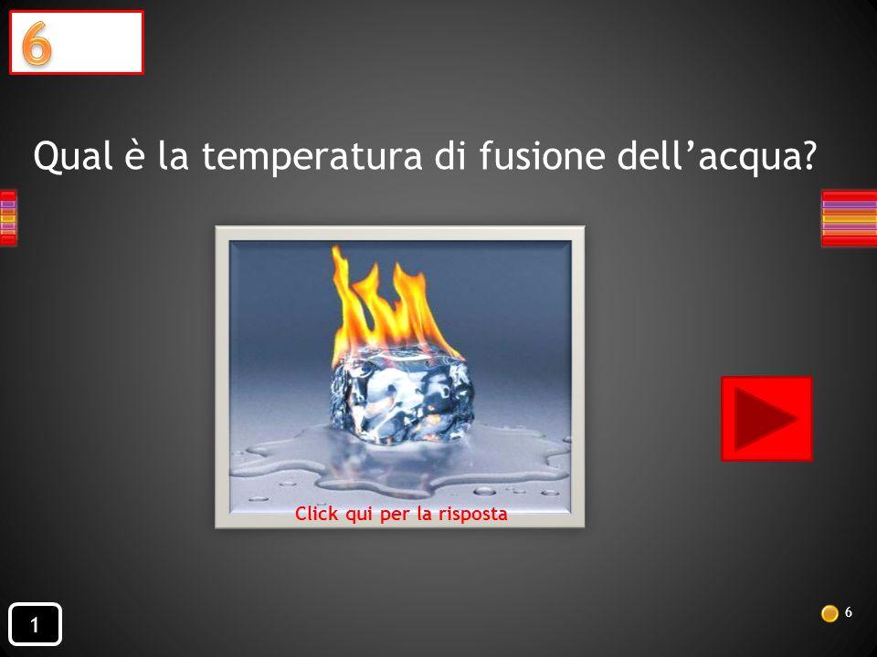 Qual è la temperatura di fusione dell'acqua