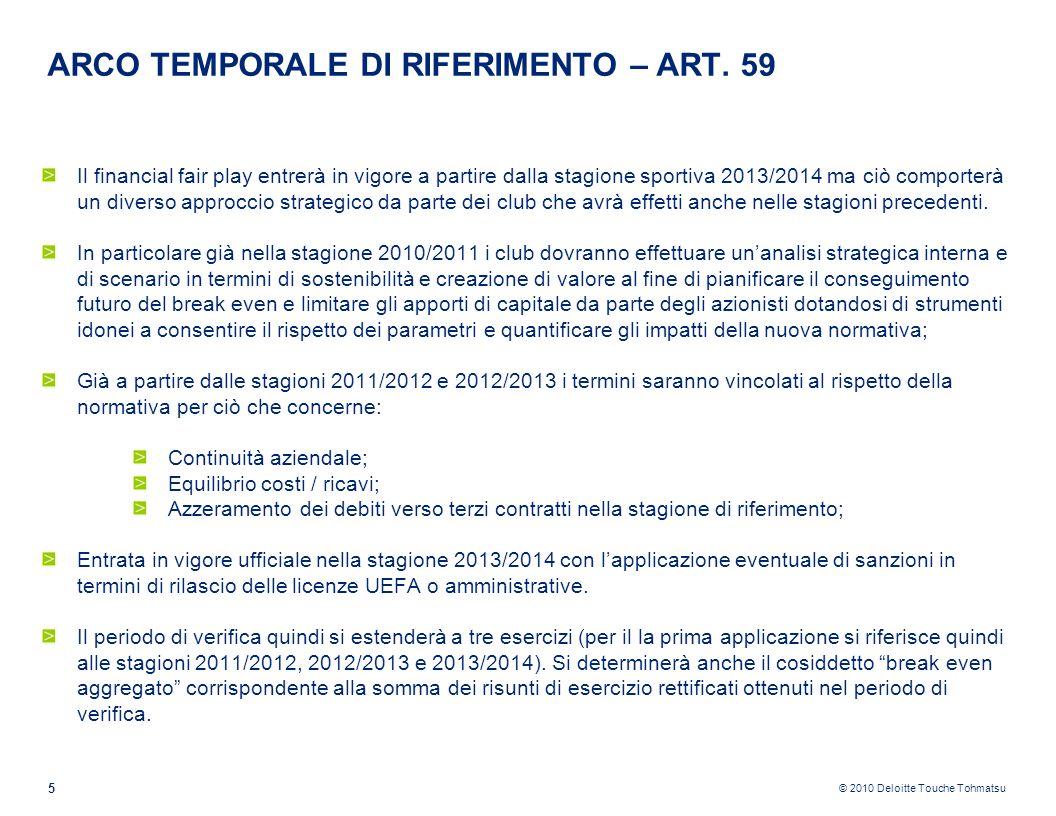 ARCO TEMPORALE DI RIFERIMENTO – ART. 59