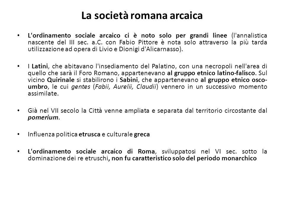 La società romana arcaica