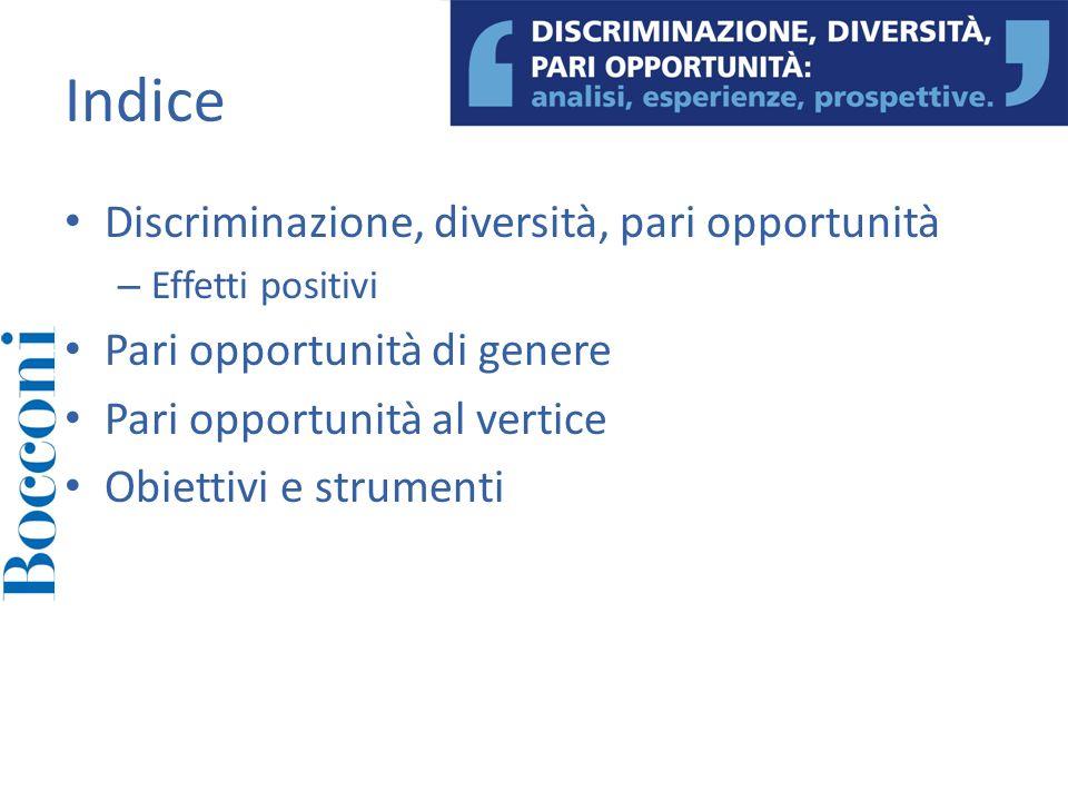 Indice Discriminazione, diversità, pari opportunità