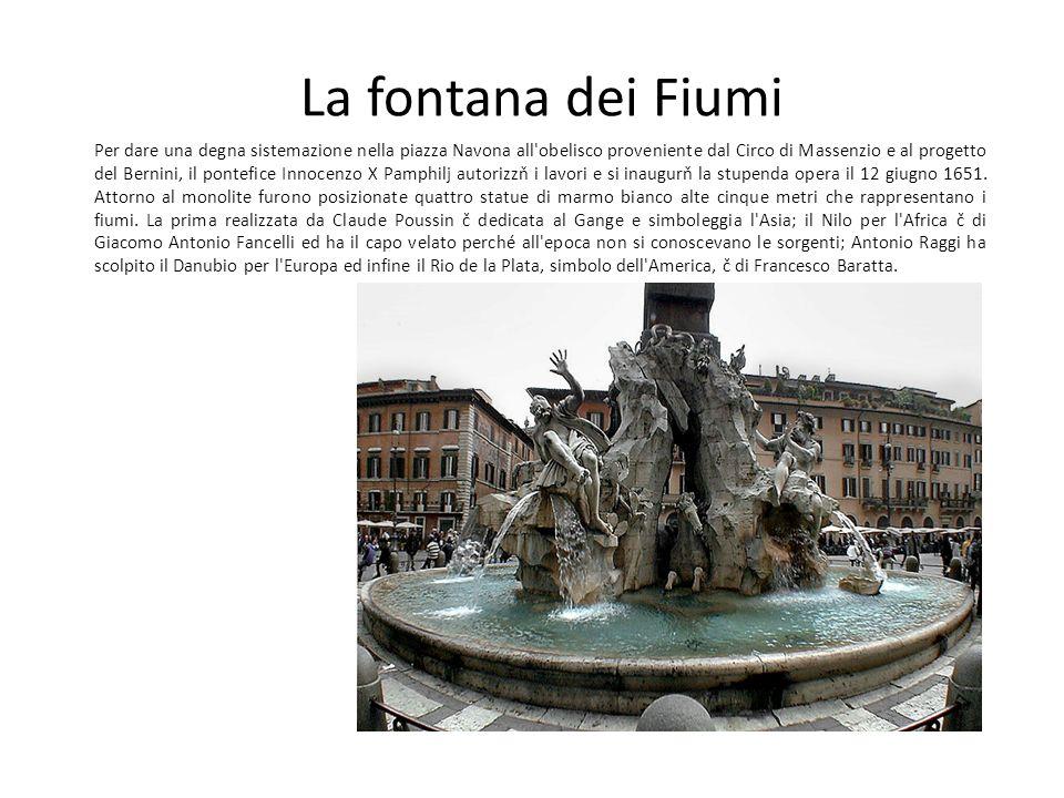 La fontana dei Fiumi